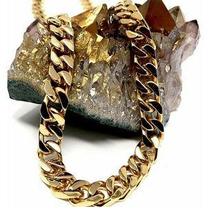 14k Gold Cuban Link Chain Necklace for Men